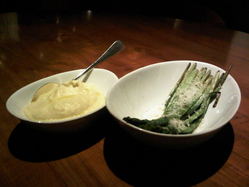 Mashed Potatoes and Asparagus at Square in Ho Chi Minh City