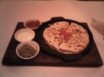 Terrible quesadilla at Al Fresco's in Hanoi