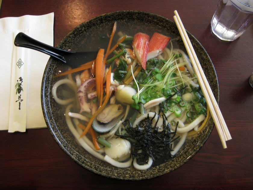 Seafood Soba Noodle Soup in Japantown