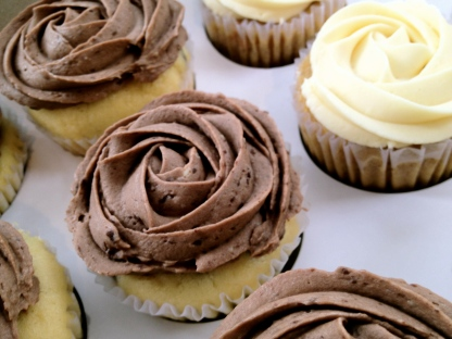 Chocolate Chip Cupcake w/Chocolate Cream Cheese Frosting