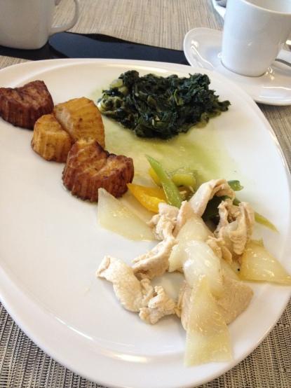 Spinach, Potatoes, Chicken