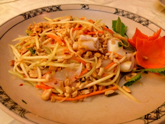 Mango Salad With Squid