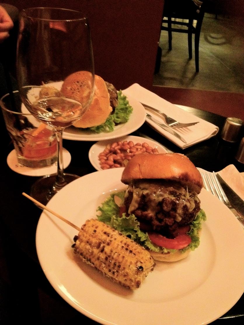 Burger and Corn at Southgate Hanoi