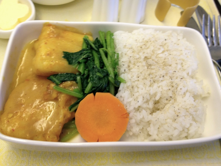 Braised Fish, Vegetables, Steamed Rice