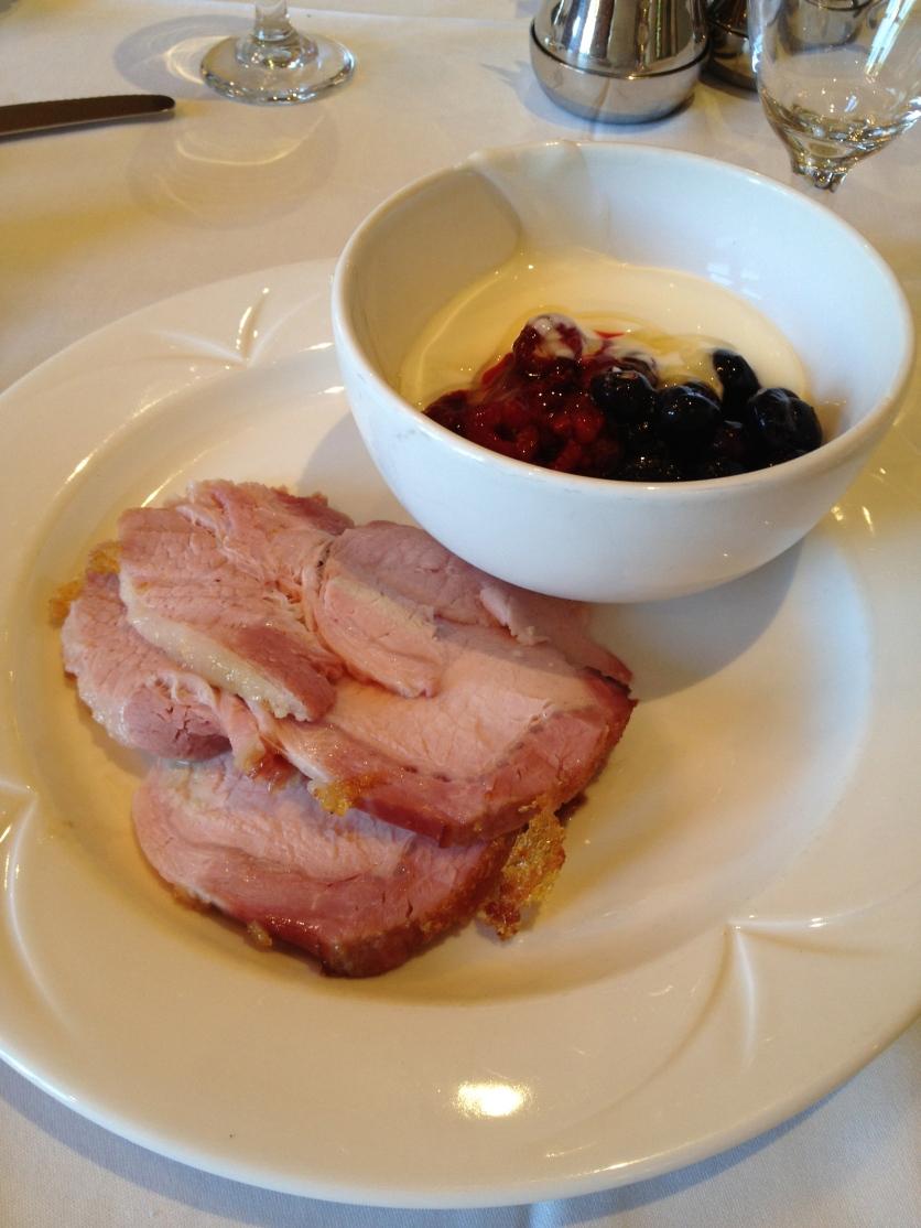 Ham, Yogurt and Mixed Berries