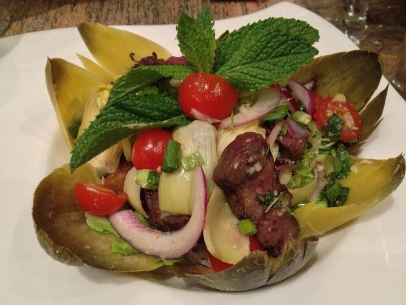 Kobe Beef & Artichoke Salad