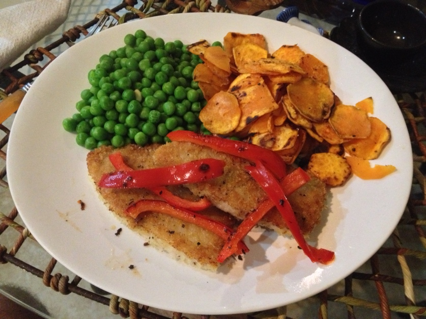 Pork Filet, Peas, Sweet Potatoes