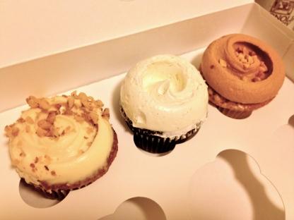 Carrot Cupcake, Flourless Chocolate Cupcake, Peanut Butter Cupcake