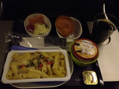 Pasta and Ice Cream (LAX to HGK)