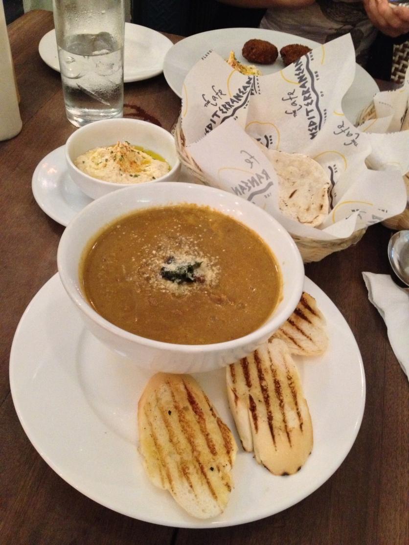 Puréed Vegetable Soup, Hummus