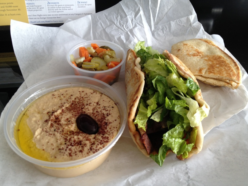 Lamb Gyro, Hummus