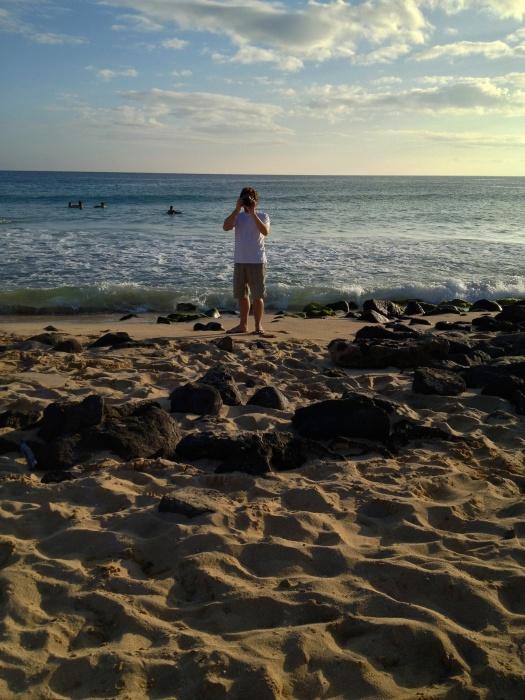 Matías on Poipu Beach