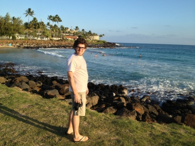 Matías on Poipu Beach