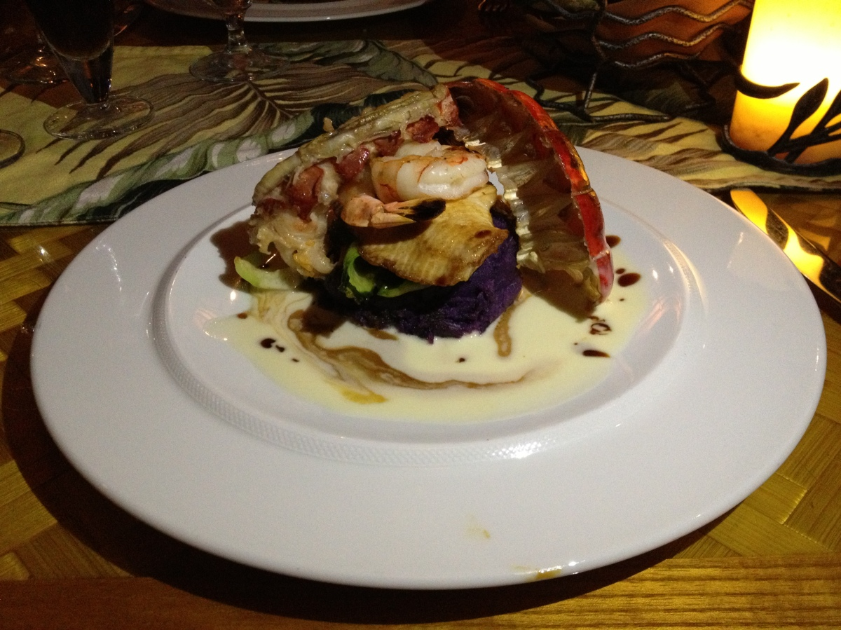 Monchong, Pacific Prawns, Kona Cold Lobster, and MoltenCake