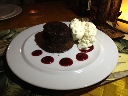 Molten Chocolate Cake w/Macadamia Nut Ice Cream