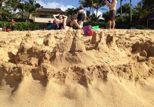 Sandcastle and Konstantin