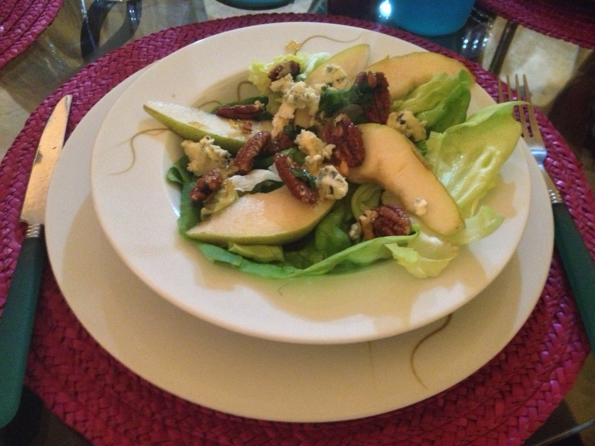 Pear and Pecan Salad, Mixed Paella