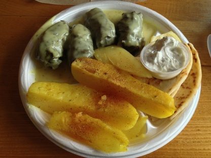 Dolmathes with Oven Potatoes