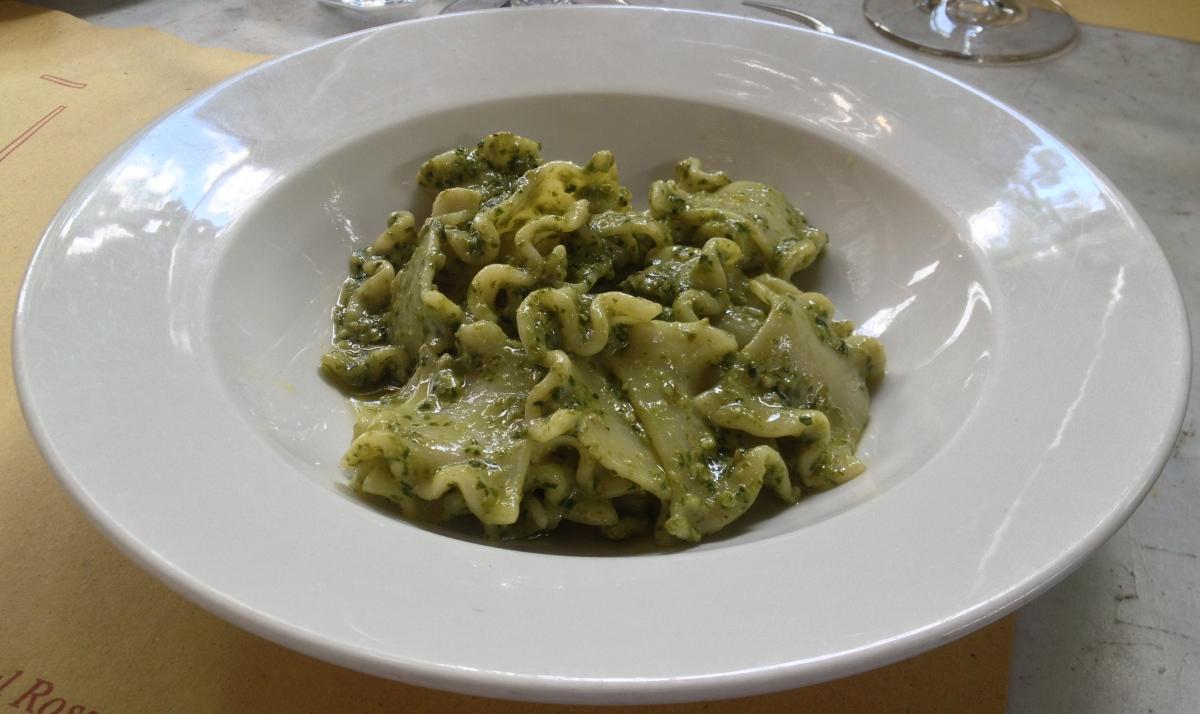 Stracci al Pesto,Spinaci