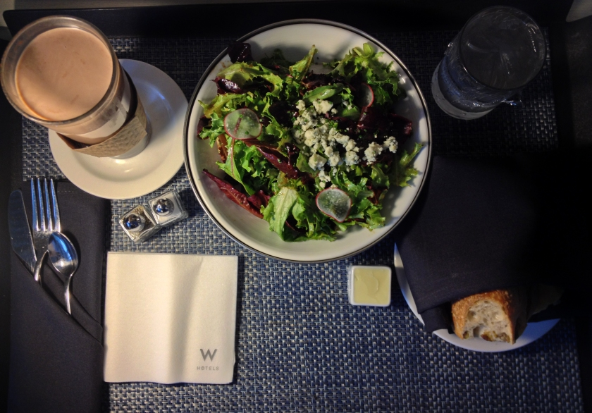 Mixed Greens Salad With Blue Cheese, Hot Chocolate