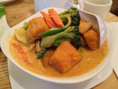 Pumpkin Curry With Tofu And Vegetables