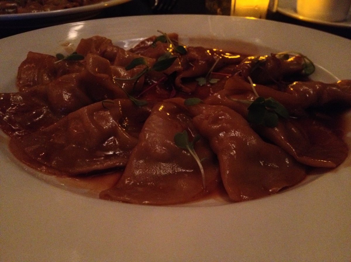 Chicken and Shiitake Won Ton Ravioli