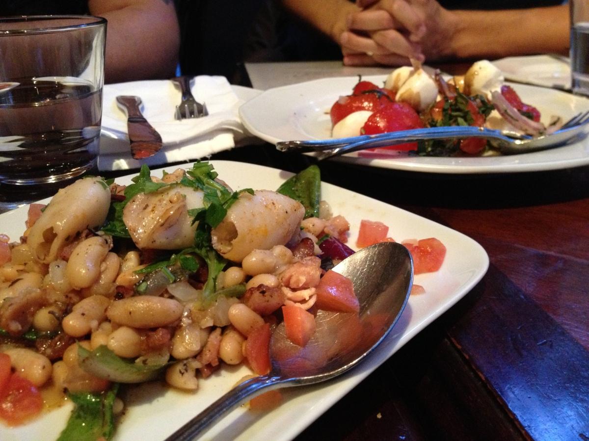 Bruschetta, Polpette, Tomato & Bocconcini,Calamari