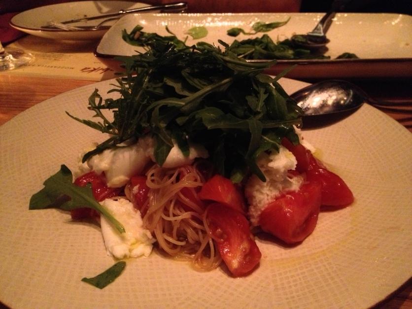 Cold Pasta w/Tomatoes and Mozzarella