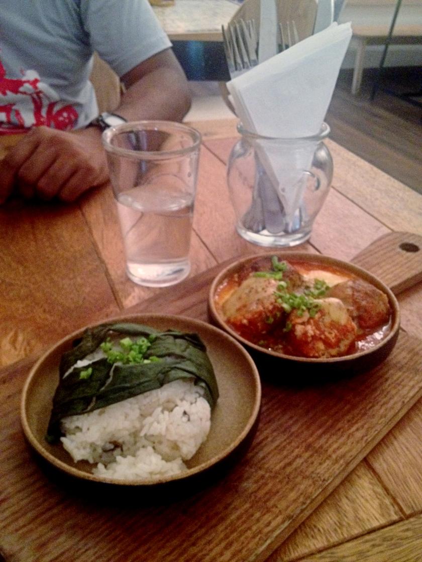 Meatballs, Mushroom Rice
