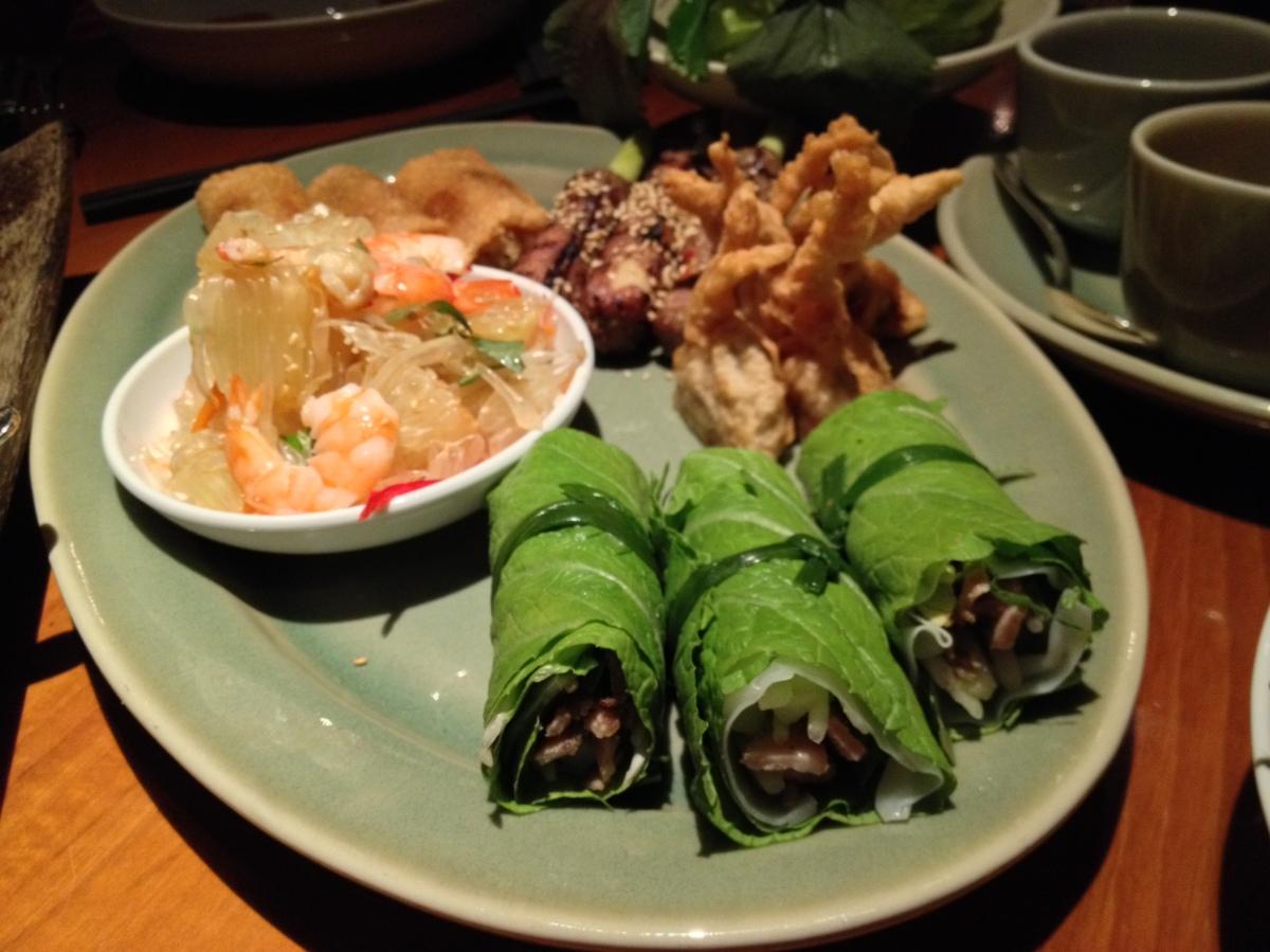 Vietnamese Tasting Platter For Three, GrilledVegetables