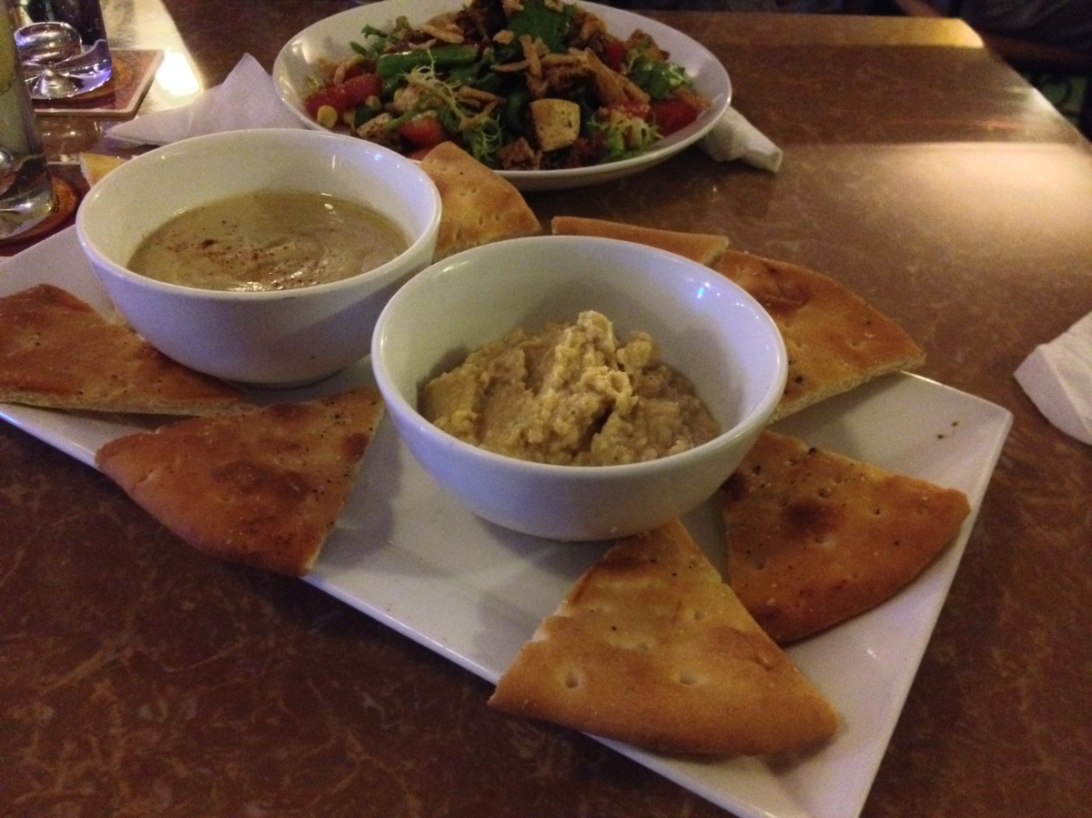 Baba Ganoush and Hummus