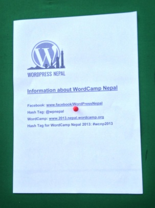 Information about WordCamp Nepal 2013
