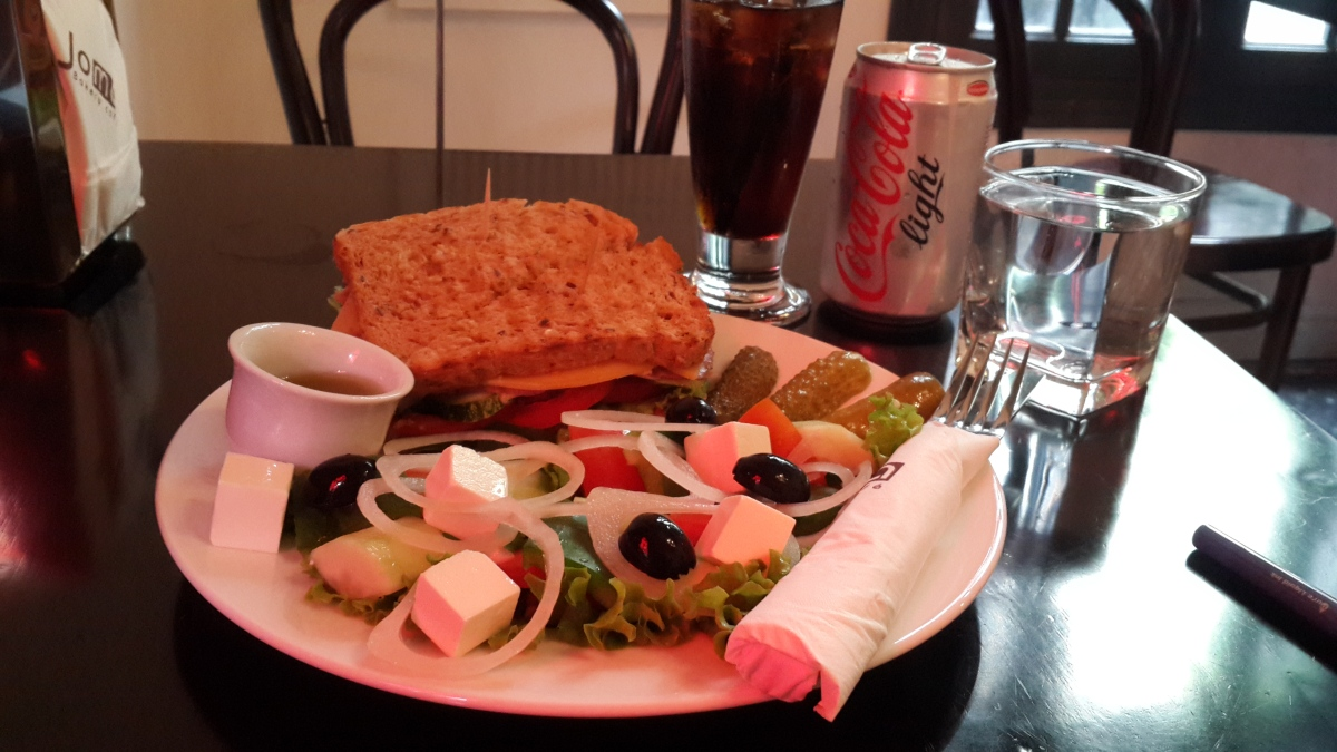 Pastrami Sandwich, Greek Salad