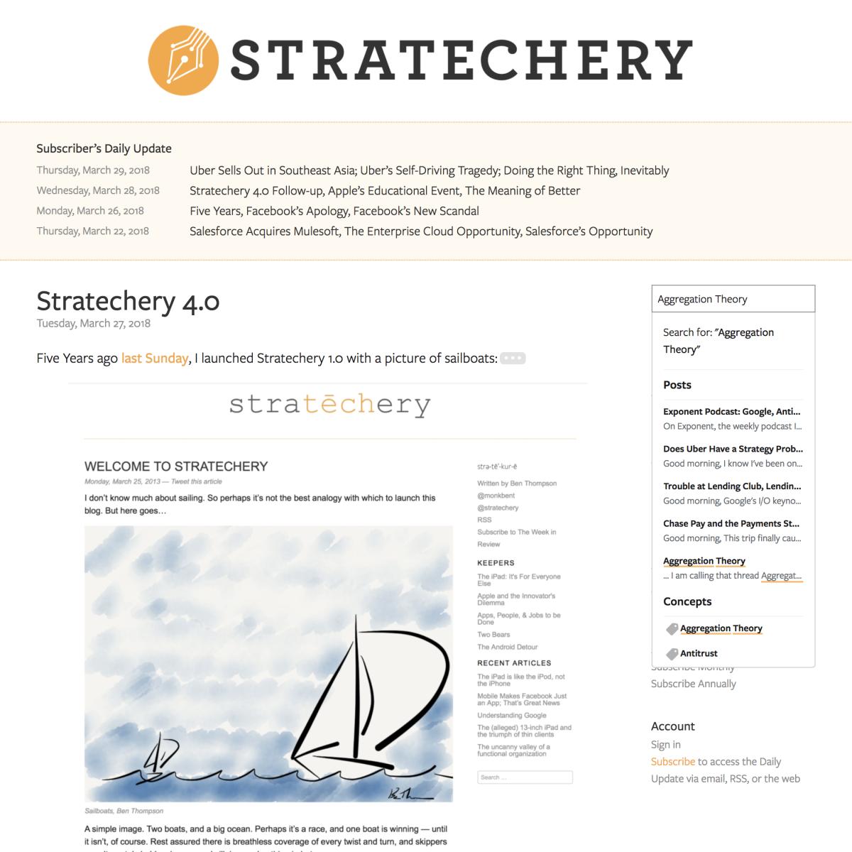 Stratechery 4.0: Not Just Another WordPressSite